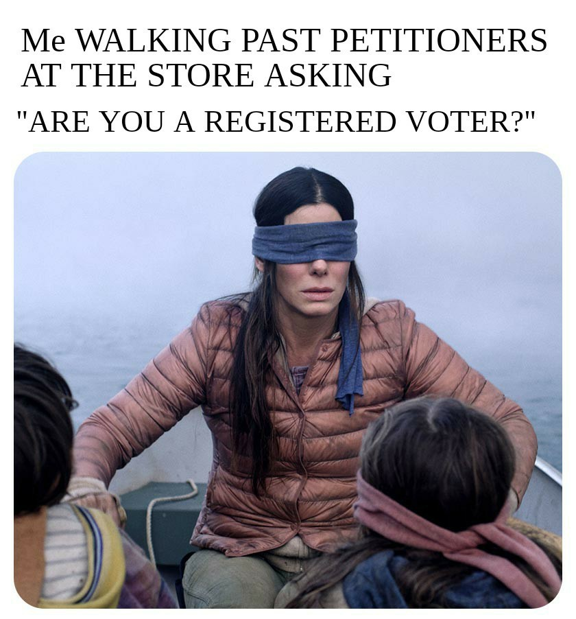 Registered voter - meme