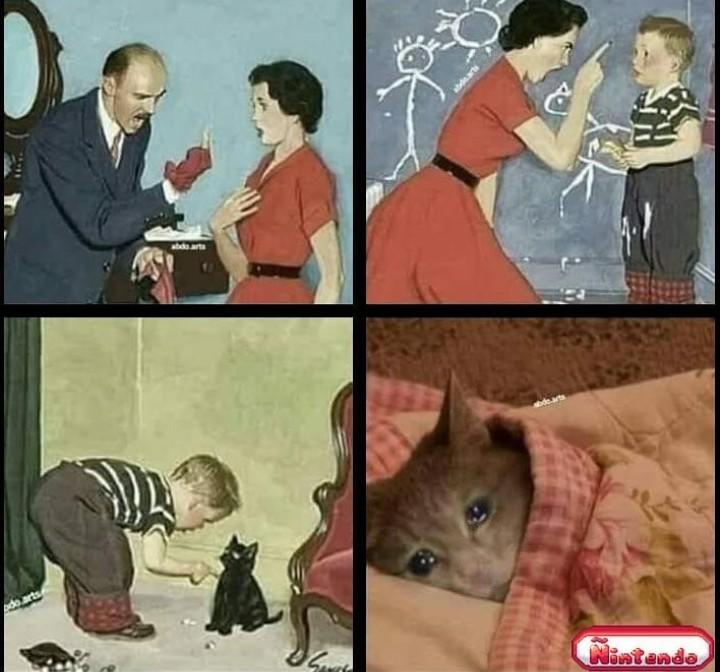 Não tinha nenhum rato perto pra ele xingar :'( - meme