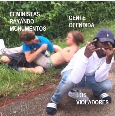 El feminismo es doblemoral - meme