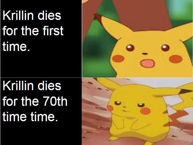 krillin dies to much - meme