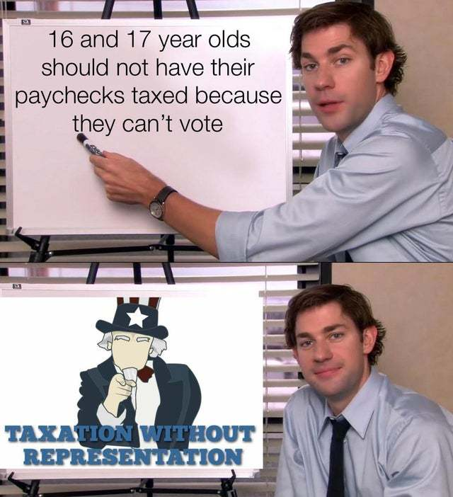 Taxation without representation - meme