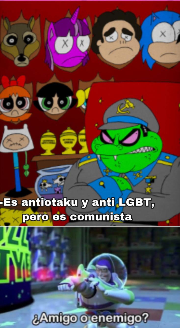 Me encontré esto explorando en internet, se llama Gruntchovski - meme