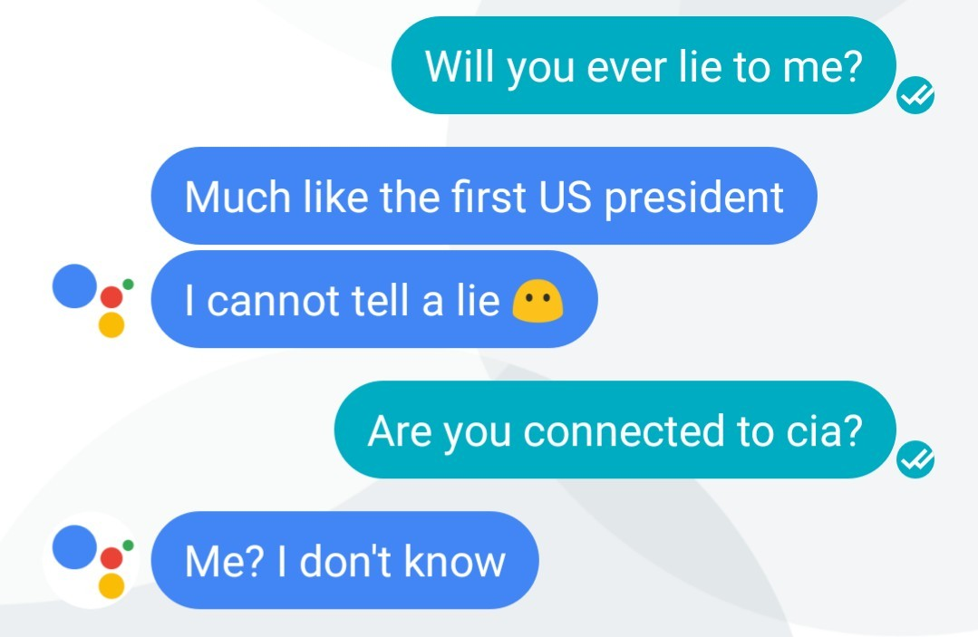 Google assistant is dodging my question - meme