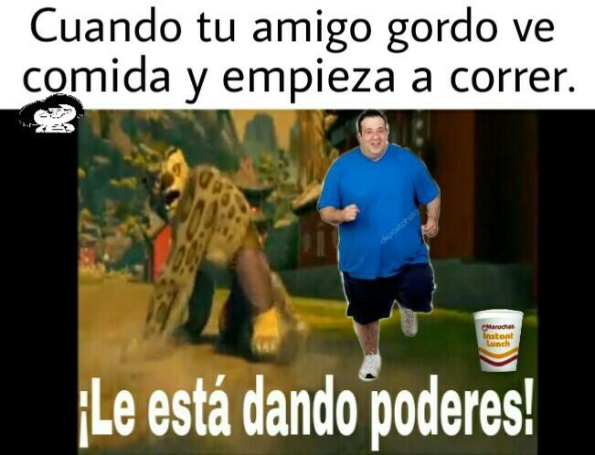 Gordos comilones. - meme