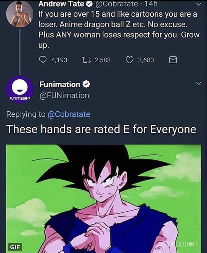 Goku's Racist - meme
