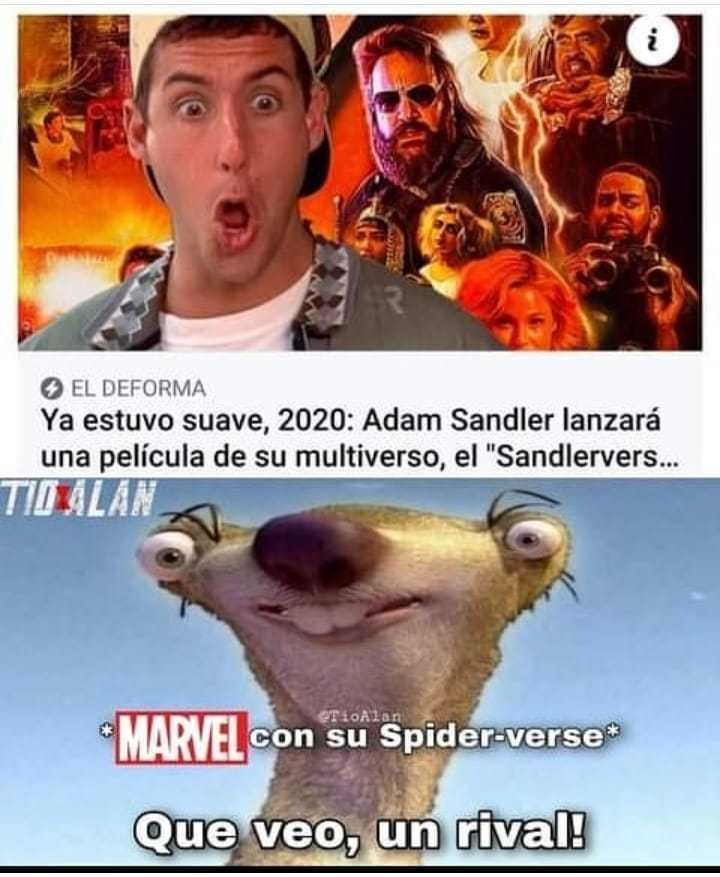 Espero no le copien tremenda idea a Adam Sandler :) - meme