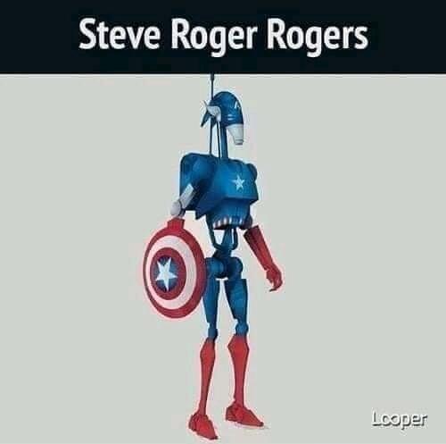 Steve Rogers Roger - meme