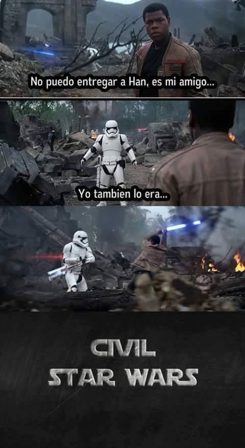 Star wars: eposode 8 civil war - meme