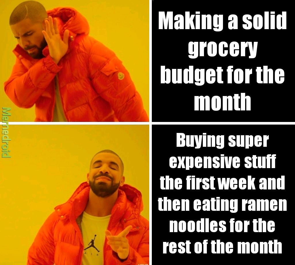 I suck at budgeting - meme