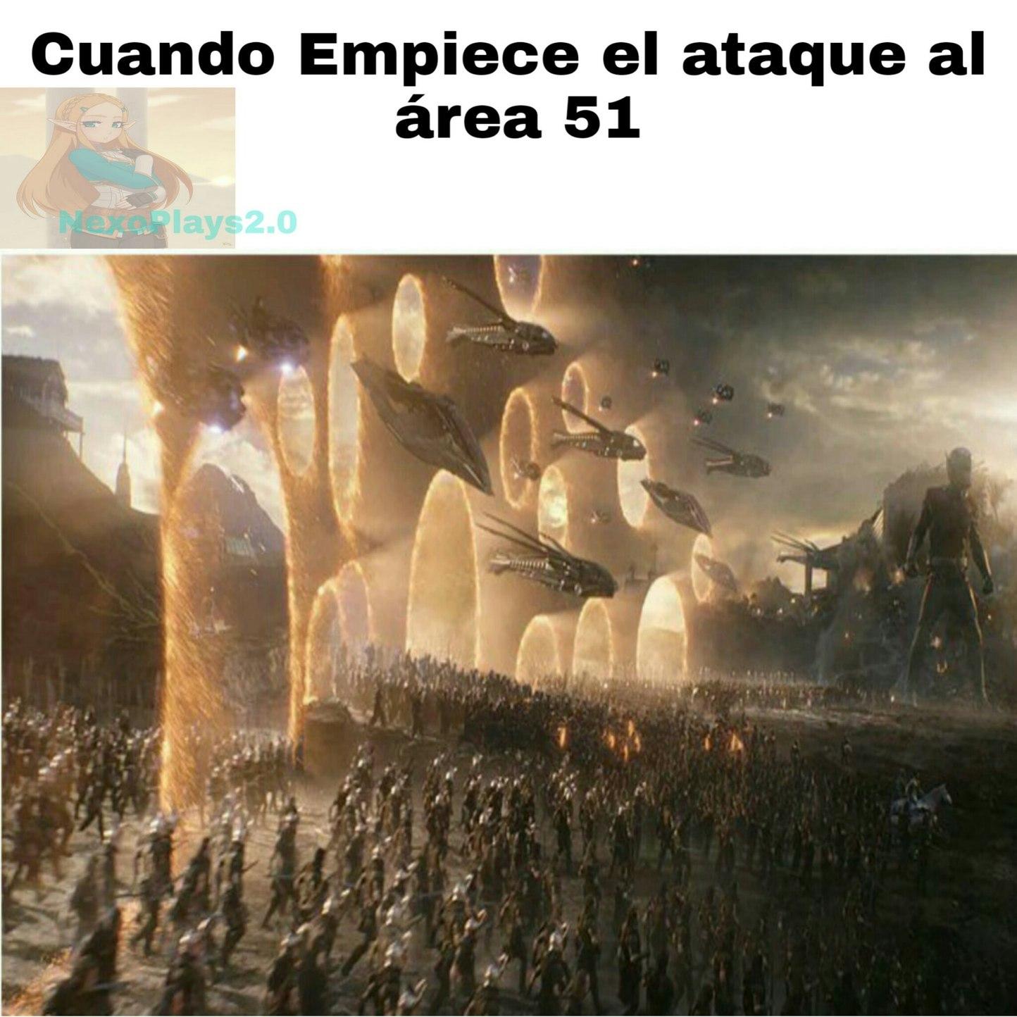 ATACANTES AL AREA 51! UNIDOS! - meme