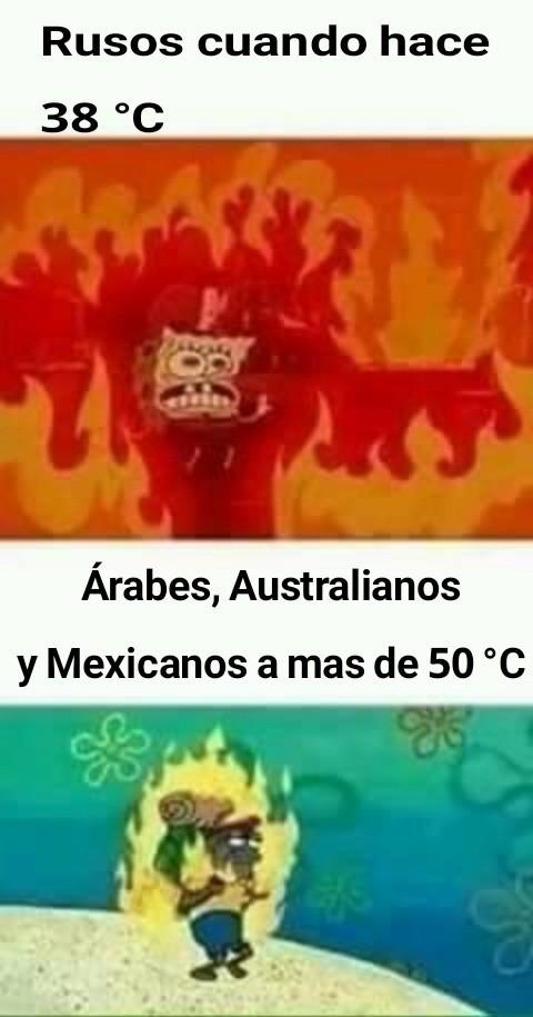 When hace mucho calor - meme