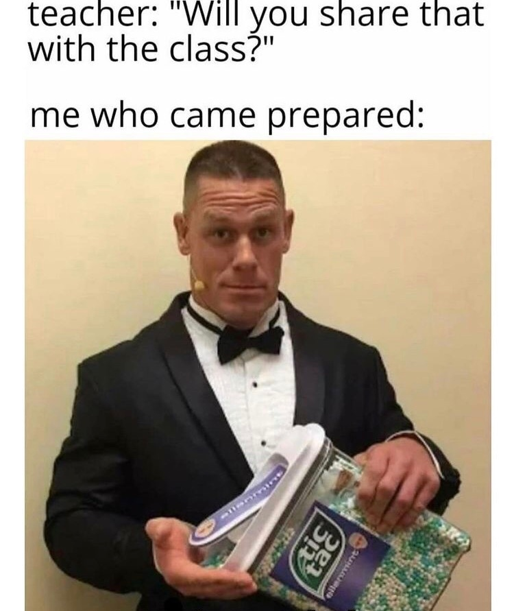 Bitch I pack for my homies - meme