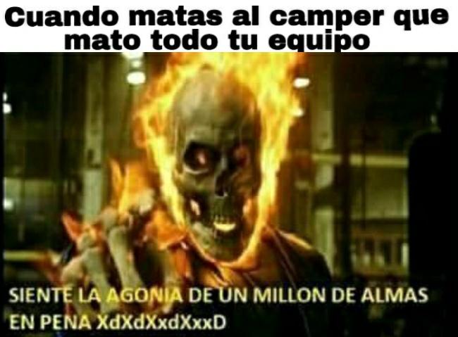 Malditos campers >:v - meme