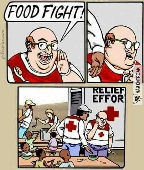 Não desperdicem comida - meme