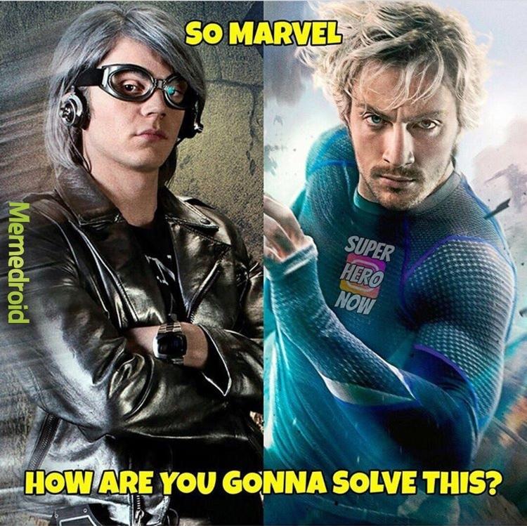 Tradução: Então Marvel... como vc vai resolver isso? - meme