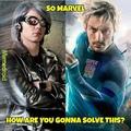 Tradução: Então Marvel... como vc vai resolver isso?