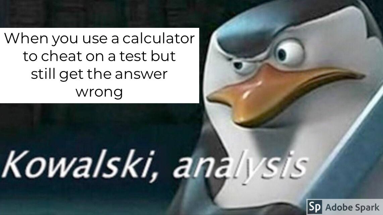 Kowalski, get me a real calculator - meme