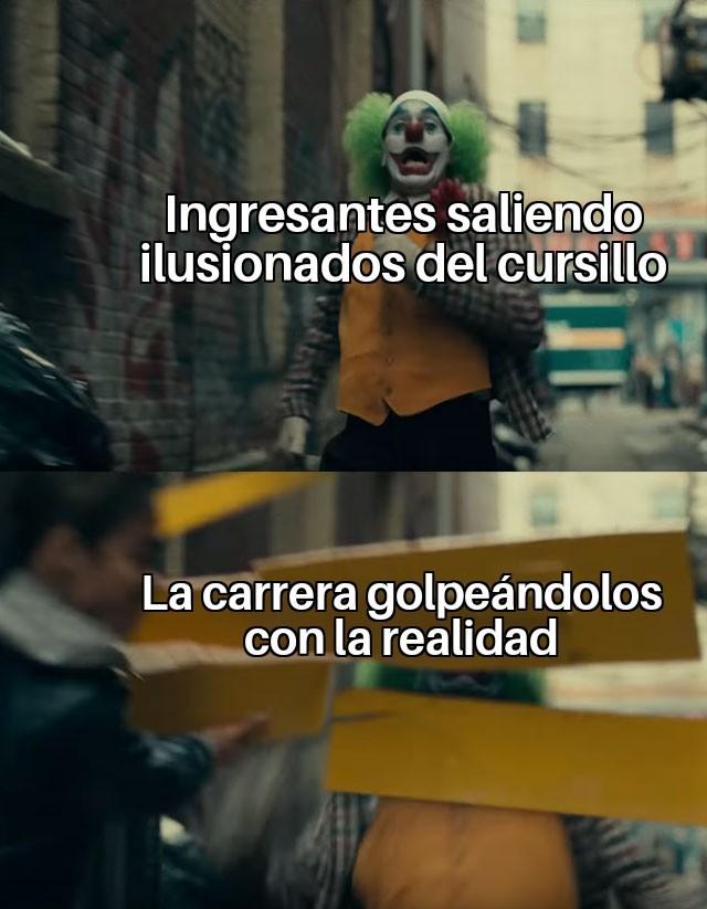 realidad universitaria - meme