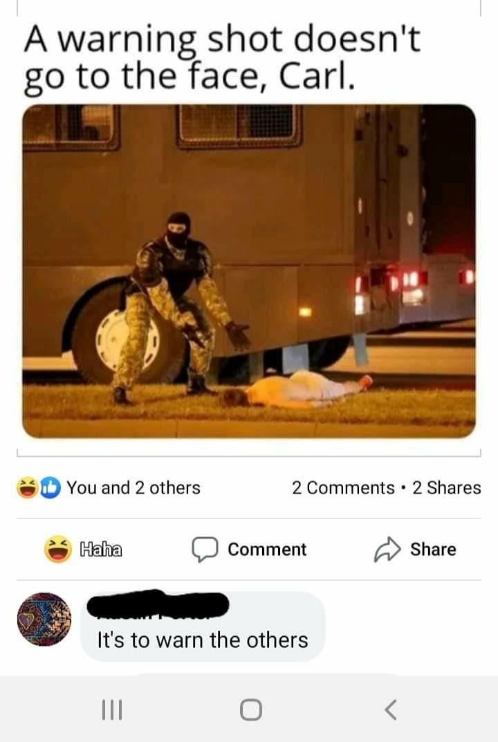 Headshots are the best warnings - meme