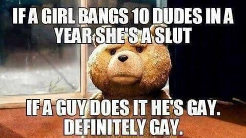 Definitely gay. - meme