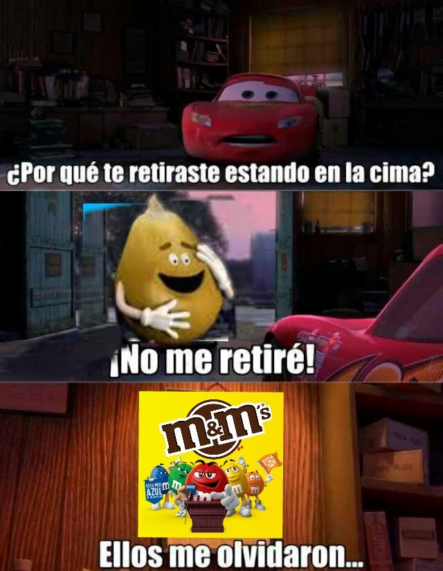 popcorn guy el personaje de m&m's que ya no está XDDDDDDD    https://m.youtube.com/watch?v=z8K8EtqXRlI - meme