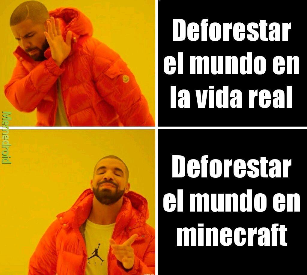 Deforestar - meme