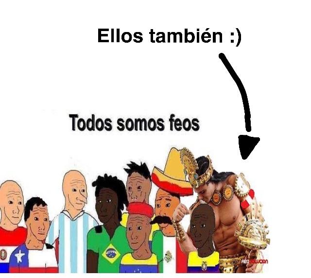 Tranquilos hispanohablantes sudamericanos, siempre podeis pensar que los brasileños son peores. - meme