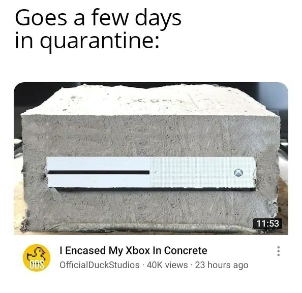 Xbox concrete - meme