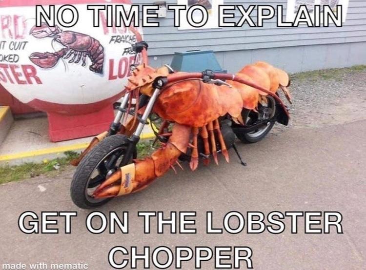 lobster chopper - meme