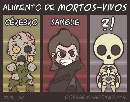 Alimento dos Mortos-Vivos - meme