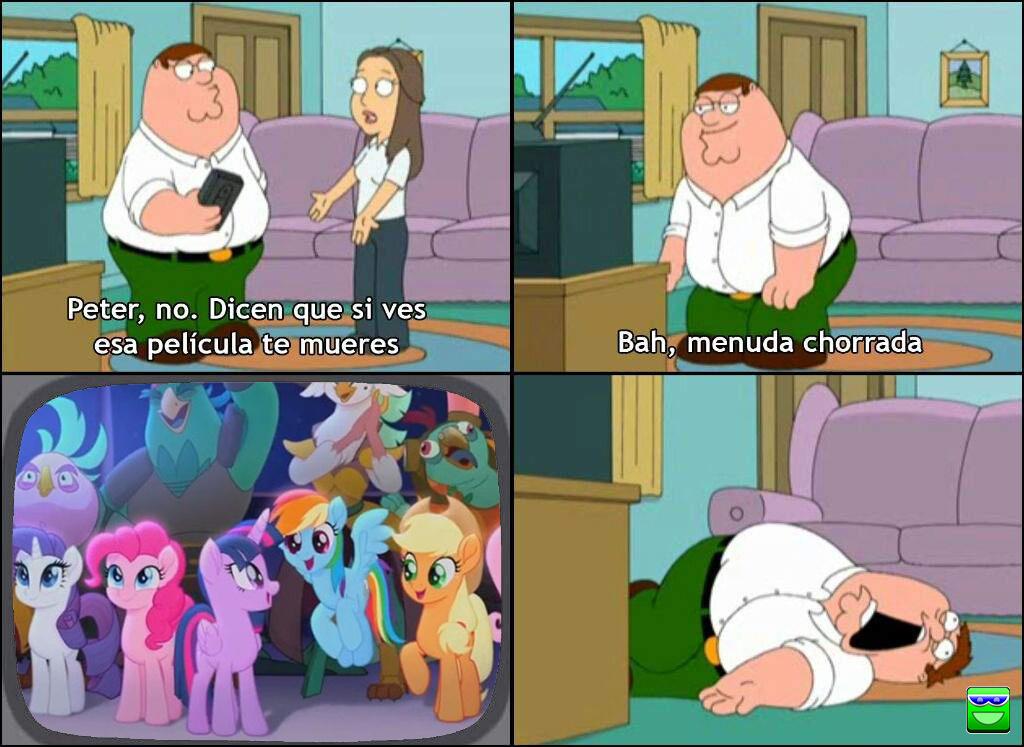 Peter muriendose por ver My litle pony :v - meme