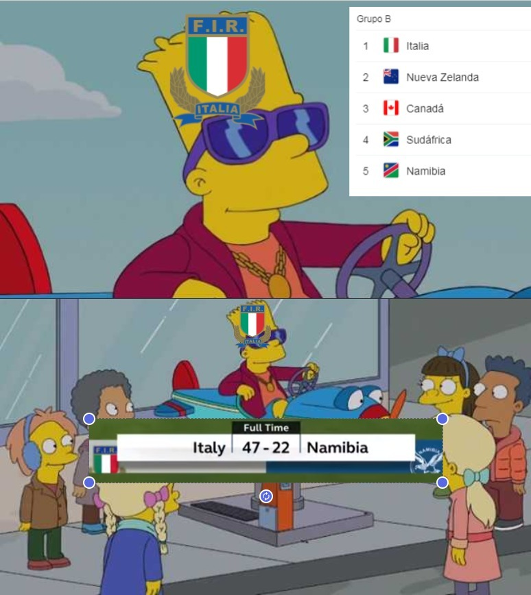 Como Italia superó a los All Blacks - meme