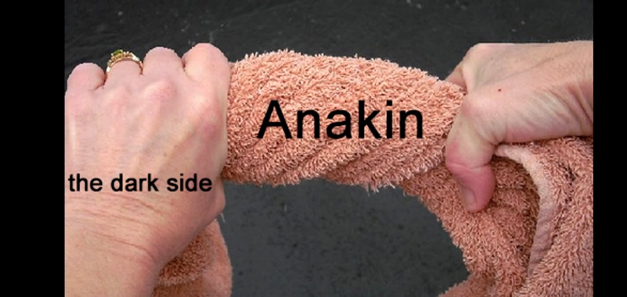 Anakin was twisted by the dark side - meme