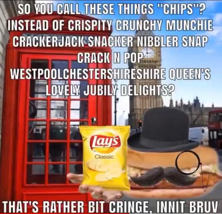 Brits are wildin - meme