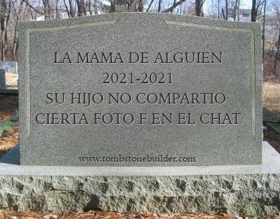 meme creado con www.tombstonebuilder.com