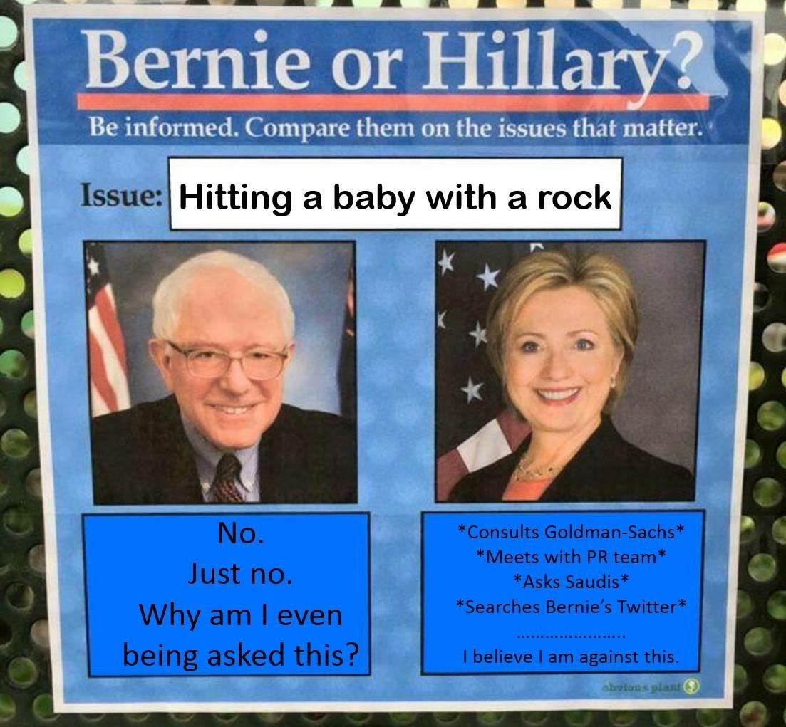 Bernie or Hillary? - meme