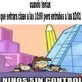 Niños sin control