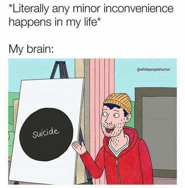 My brain is not very optimistic - meme