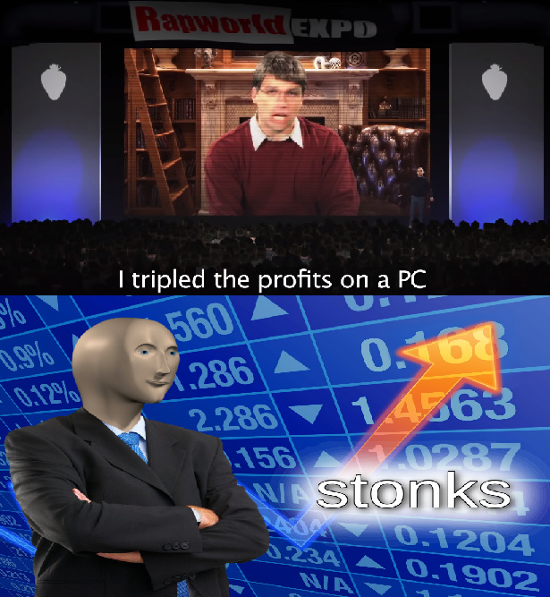 Bill Gates went STONKS mode - meme