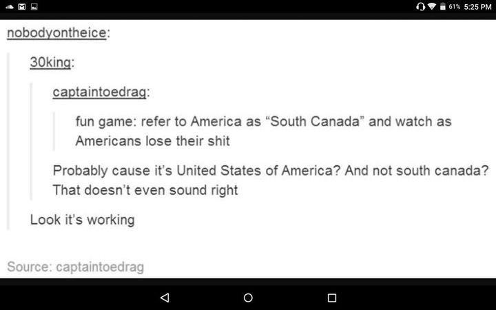 South Canada - meme
