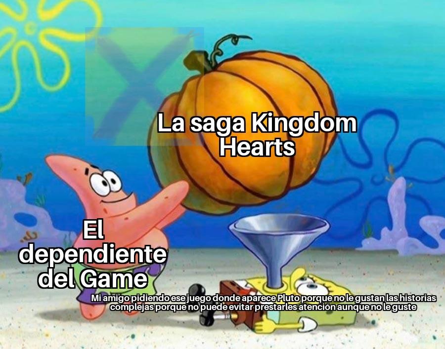 Contexto: Kingdom Hearts es un juego ambientado en los mundos Disney con un lío de viajes en el tiempo, clones y otras cosas loquisimas - meme