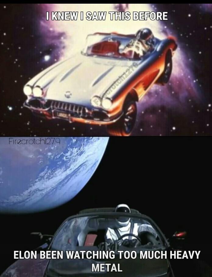 Space man / heavy metal - meme
