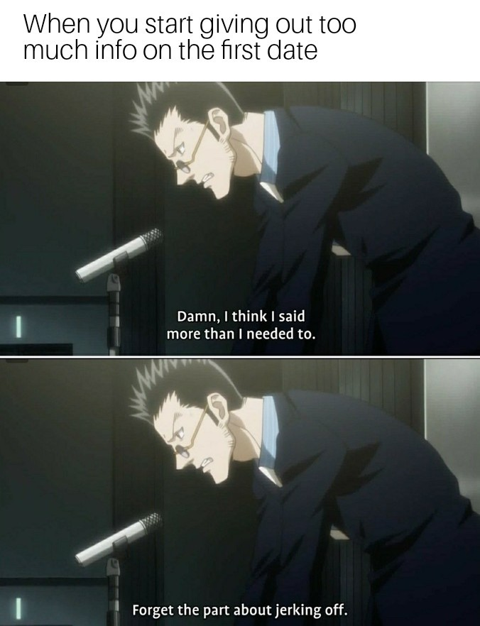 Leorio faps too much - meme