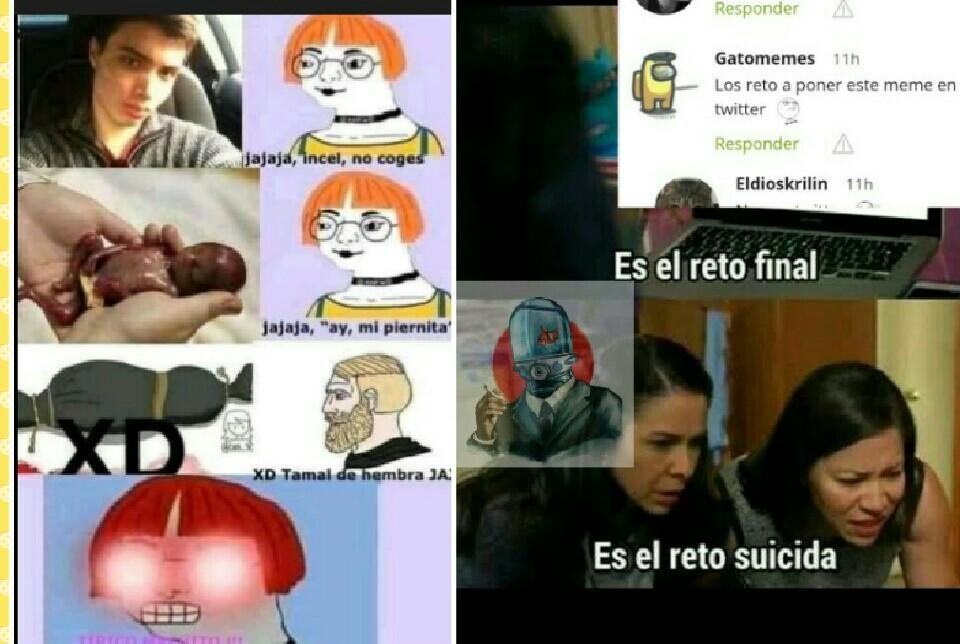 Reto suicida - meme
