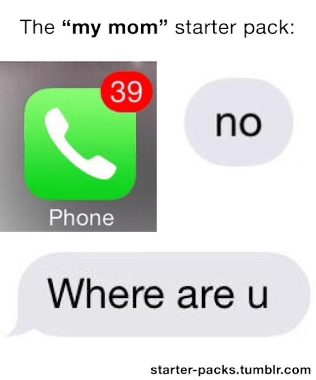 Mom starter pack - meme