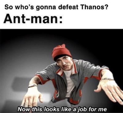 ant man up the bum - meme