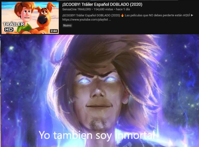El dios shaggy wuelve - meme