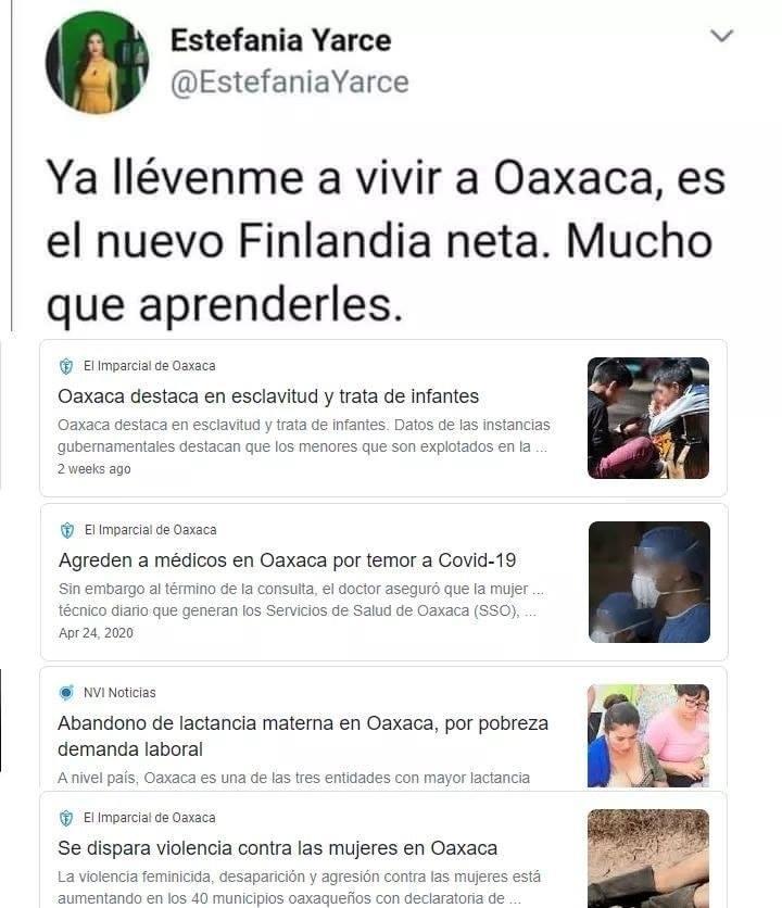 Oaxaca primermundista  - meme