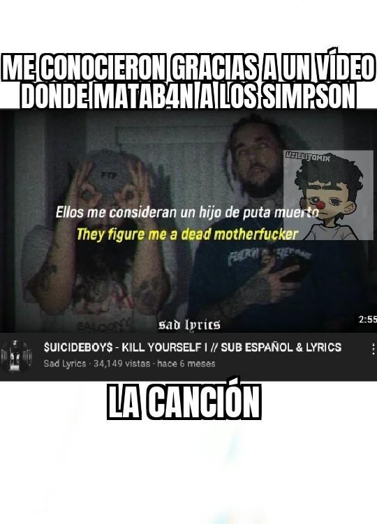 El vídeo de los Simpson me traumo :( - meme