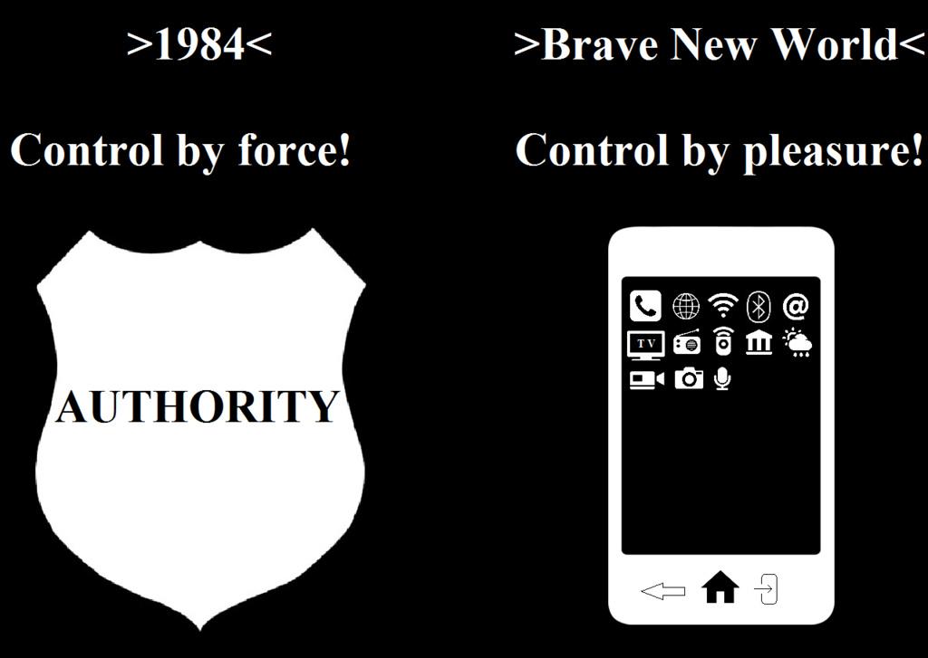 orwell vs huxley - meme